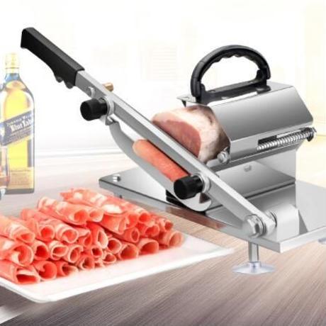 ミートスライサー 手動 家庭用 業務用 冷凍肉 3-10mm 塊肉スライス オールステンレス