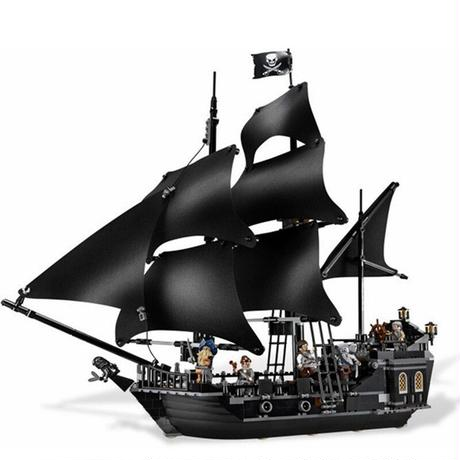 レゴ風インテリア パイレーツオブカリビアン ブラックパール号 ミニフィグセット