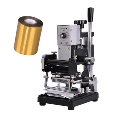 箔押し 箔押し機 ホットスタンプ 焼き印 簡単 卓上 手作り レザークラフト