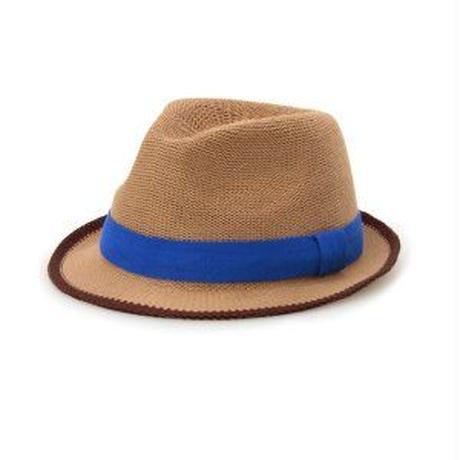 青色リボンの帽子の画像