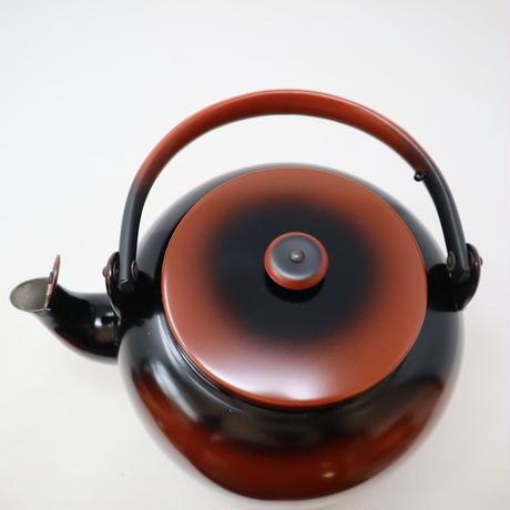 A001【水次】一喜堂 銅製 口蓋付 腰黒 水次