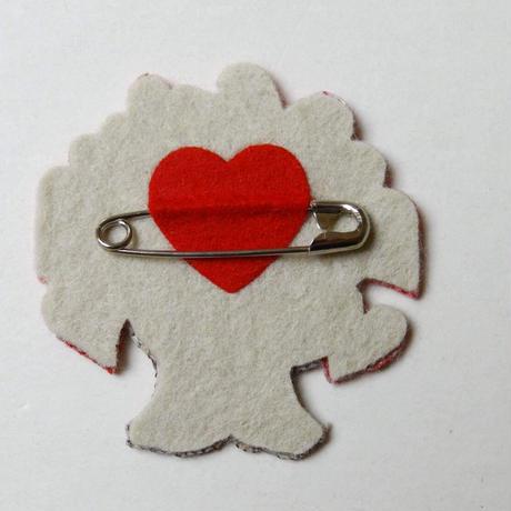 いのちの木シンボルバッチ / オール刺繍(日本製)5個セット