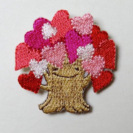 いのちの木シンボルバッチ / オール刺繍(日本製)
