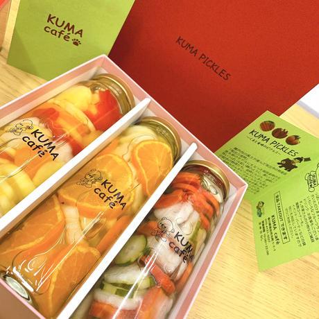 KUMA PICKLES  3bottles SET【季節のおやさい&フルーツ】by KUMA café 🧸