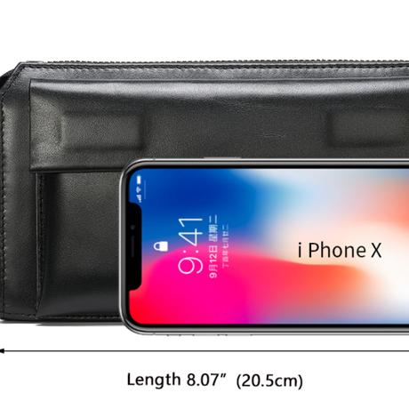 本革 メンズウォレット 長財布 セカンドバッグ クラッチバッグ iphone スマホ