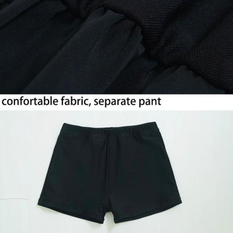 タンキニ 編み上げ 水着 フリル スカート ツーピース ワンピース かわいいレ