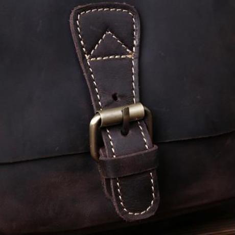 ヴィンテージ 上質 本革 メンズ ショルダーバッグ 斜めがけ 茶色