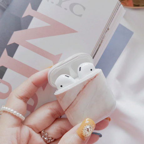 airpods case エアーポッズ ケース カバー 大理石柄 保護 iphone
