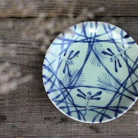 品番 t-0169 蜻蛉の図 青磁皿