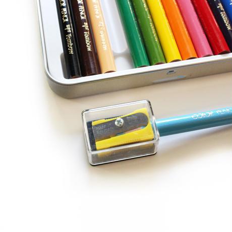 トンボ ミニ色鉛筆 12色セット+鉛筆削り