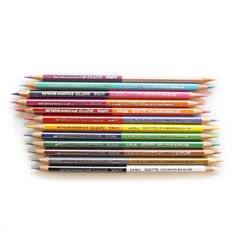 1本で2色!ダブルカラー色鉛筆12本セット