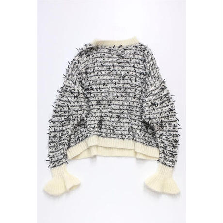Fringe Pullover (with collar/ 衿あり)