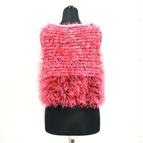 Long fur short jilt < neon Pink × Black >