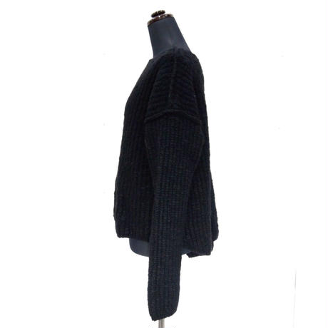 Plane knit < BLACK>_Ladies
