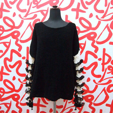 Frilled Lace Sleeves  < Black / Green / White >
