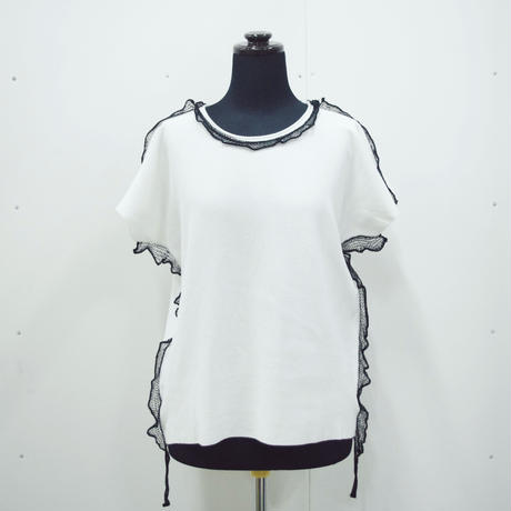 LACE [ shoulder/neck/side ] POLO TEE