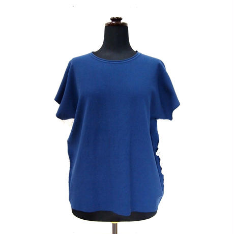 BIG POLO TEE_ Navy[side/sleeve race]