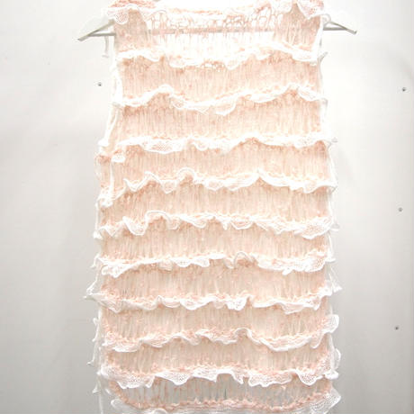 Frilled Lace Sleeveless < Yellow  /  L.Pink >