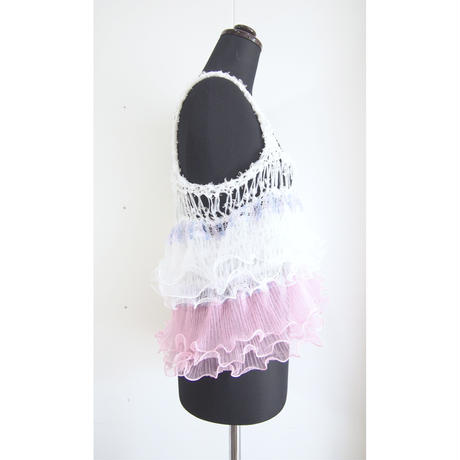 Ruffled Camisole  < Baby pink / Purple>