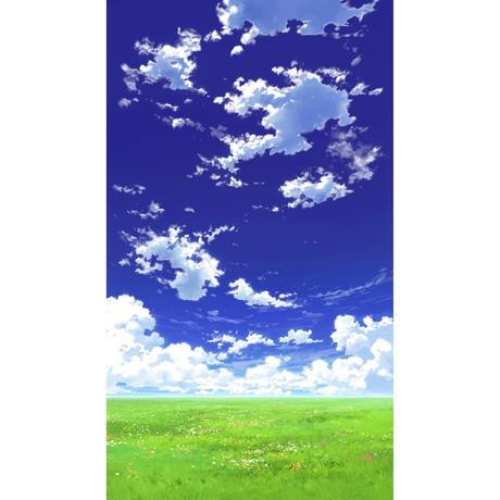 【イラスト背景】【合作】青空_縦PAN用01_04