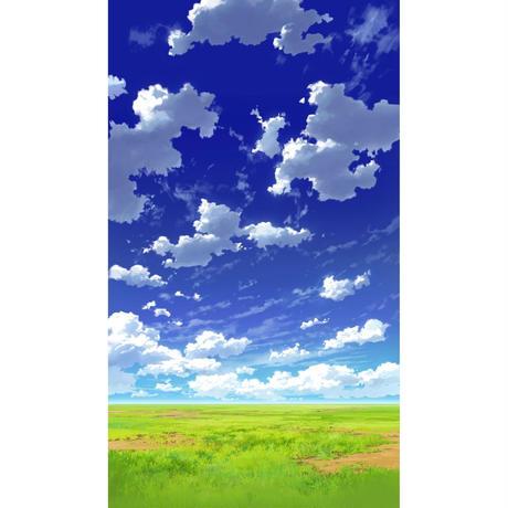 【イラスト背景】【合作】青空_縦PAN用02_08