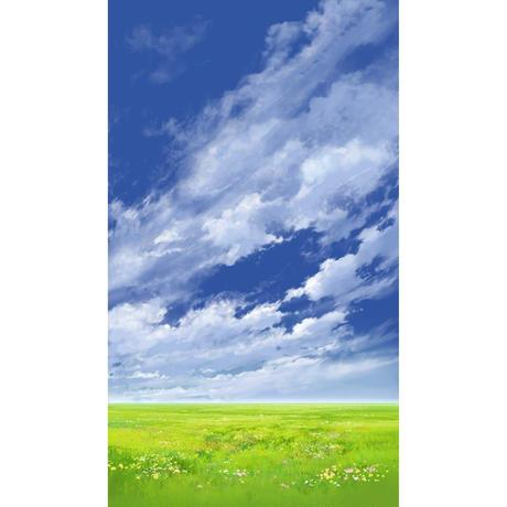 【イラスト背景】【合作】青空_縦PAN用05_07