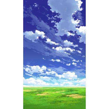 【イラスト背景】【合作】青空_縦PAN用03_02