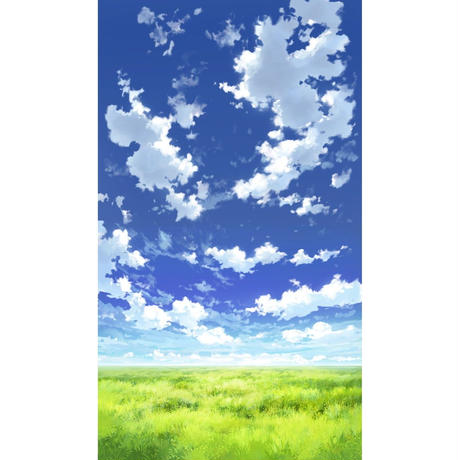 【イラスト背景】【合作】青空_縦PAN用04_14
