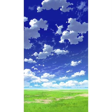 【イラスト背景】【合作】青空_縦PAN用02_05