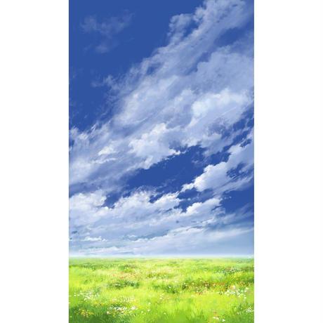 【イラスト背景】【合作】青空_縦PAN用05_13
