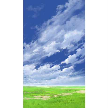 【イラスト背景】【合作】青空_縦PAN用05_05