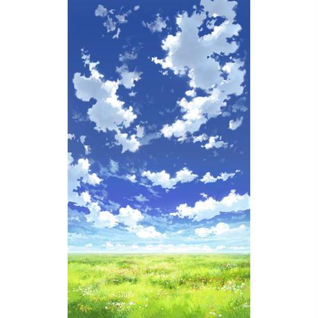 【イラスト背景】【合作】青空_縦PAN用04_13