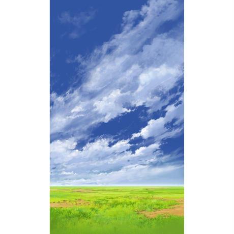 【イラスト背景】【合作】青空_縦PAN用05_08