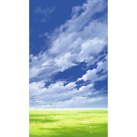 【イラスト背景】【合作】青空_縦PAN用05_10