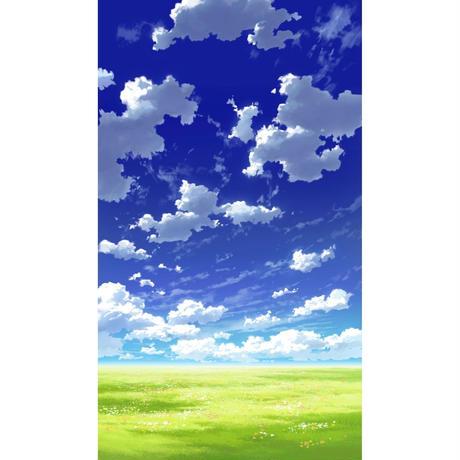 【イラスト背景】【合作】青空_縦PAN用02_10