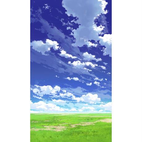 【イラスト背景】【合作】青空_縦PAN用03_05