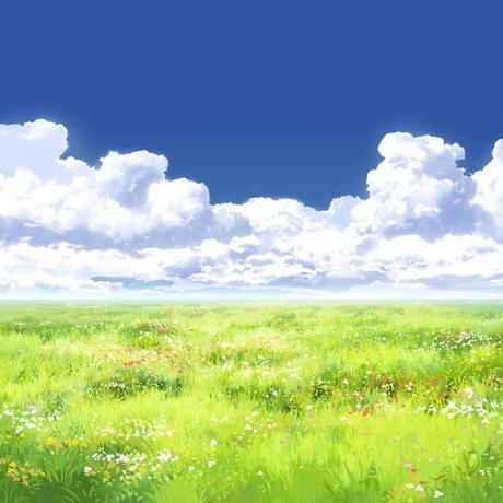 【イラスト背景】【合作】時差入道雲05_13
