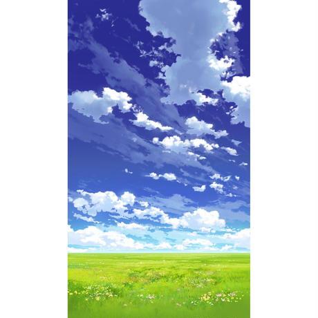 【イラスト背景】【合作】青空_縦PAN用03_07