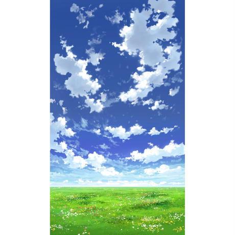 【イラスト背景】【合作】青空_縦PAN用04_01
