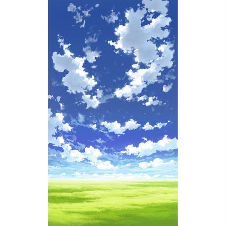 【イラスト背景】【合作】青空_縦PAN用04_11
