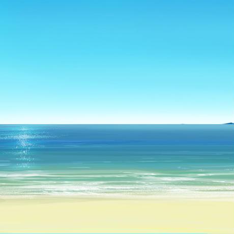 【イラスト背景】【無料】海05