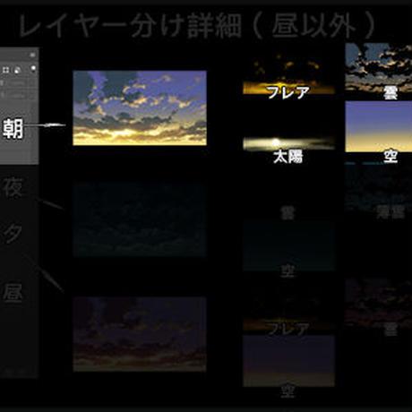 【単品売り】素材_時差雲05_朝