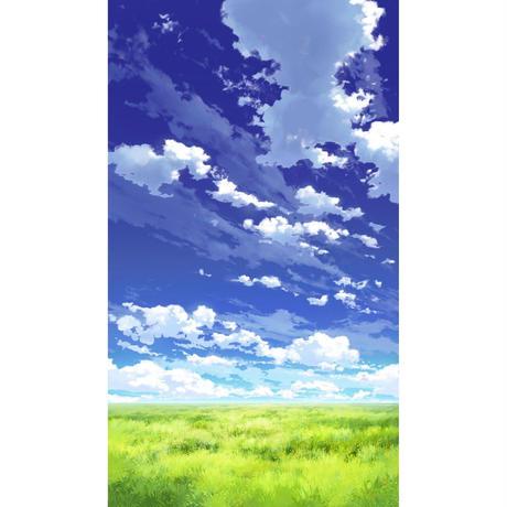 【イラスト背景】【合作】青空_縦PAN用03_14