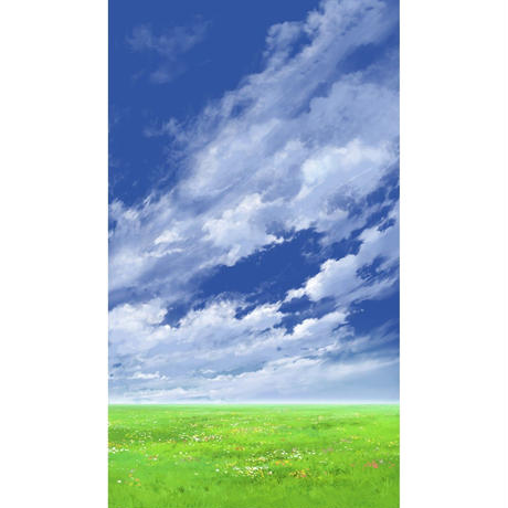 【イラスト背景】【合作】青空_縦PAN用05_04