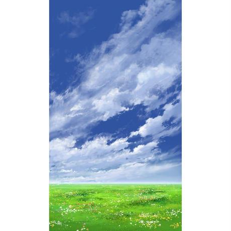 【イラスト背景】【合作】青空_縦PAN用05_01