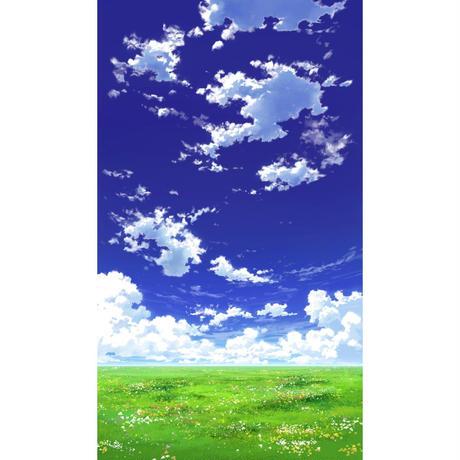 【イラスト背景】【合作】青空_縦PAN用01_01