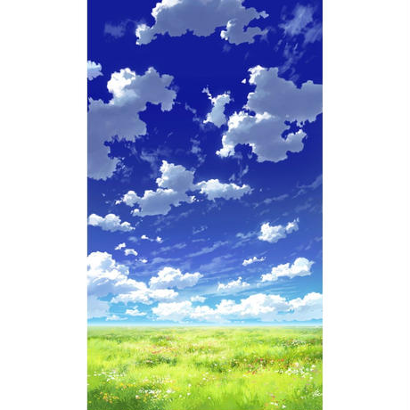 【イラスト背景】【合作】青空_縦PAN用02_13