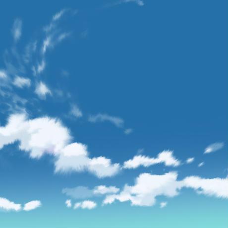 【イラスト背景×4枚セット】【無料】青空背景015_018