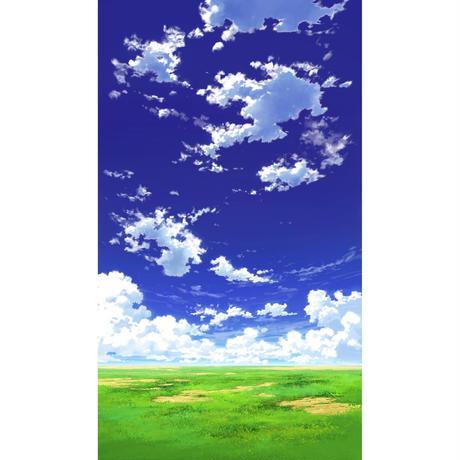 【イラスト背景】【合作】青空_縦PAN用01_02