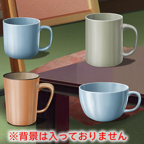 素材_マグカップ4種